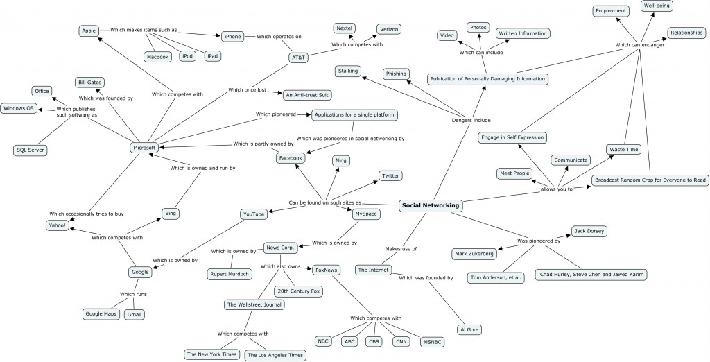 Microbiology Concept Map.Social Networking Concept Map Peer 2010