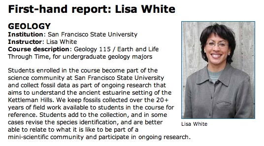 The beginning of Lisa White's report on how she is using Understanding Science in her teaching.
